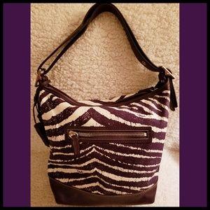 Coach Bags - Coach*Rare Purple Zebra Hobo Purse